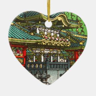 Ornamento De Cerâmica 川瀬巴水 de Kawase Hasui: Santuário de Toshogu em