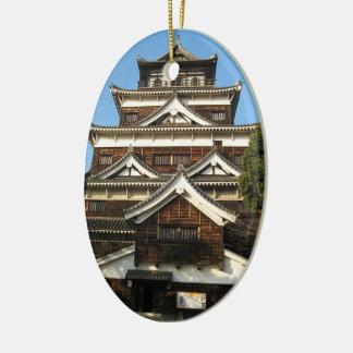 Ornamento De Cerâmica 広島城 do castelo de Hiroshima, Hiroshima, Japão