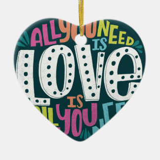 ORNAMENTO DE CERÂMICA 0032-ALL-YOU-NEED-IS-LOVE-01