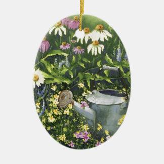 Ornamento De Cerâmica 0530 flores do cone & lata molhando