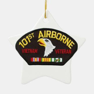 Ornamento De Cerâmica 101st Veterano transportado por via aérea de