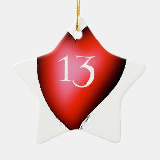 Ornamento De Cerâmica 13 dos corações