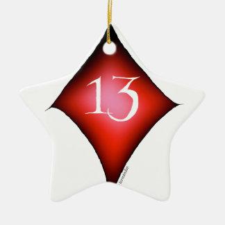 Ornamento De Cerâmica 13 dos diamantes