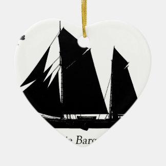 Ornamento De Cerâmica 1884 barca de Boomie - fernandes tony