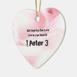 Ornamento De Cerâmica 1 capítulo 3 de Peter mas sanctify o senhor Deus