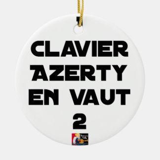 Ornamento De Cerâmica 1 TECLADO AZERTY VALER 2 - Jogos de palavras