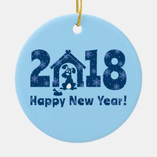 Ornamento De Cerâmica 2018. Ano do cão