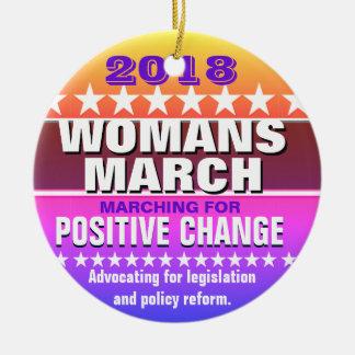 Ornamento De Cerâmica 2018 o março da mulher