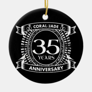 Ornamento De Cerâmica 35a crista coral do jade do aniversário de