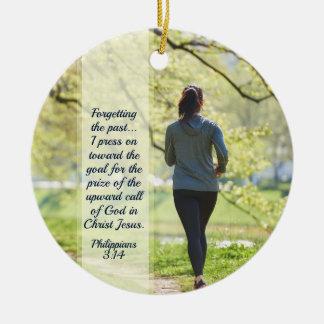 Ornamento De Cerâmica 3:13 dos Philippians - imprensa 14 para a chamada