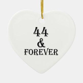 Ornamento De Cerâmica 44 e para sempre design do aniversário