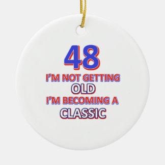 Ornamento De Cerâmica 48 designs do aniversário