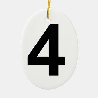 Ornamento De Cerâmica 4 - número quatro