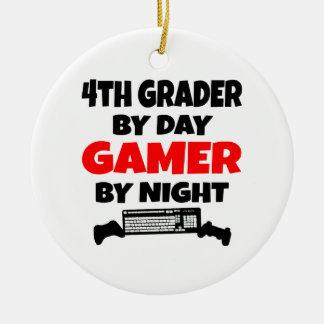 Ornamento De Cerâmica 4o Graduador pelo Gamer do dia em a noite