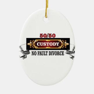 Ornamento De Cerâmica 50 50 direitos de pais,