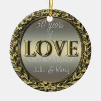 Ornamento De Cerâmica 50 anos do amor ID196