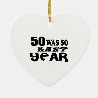 Ornamento De Cerâmica 50 era assim tão no ano passado o design do