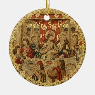 Ornamento De Cerâmica 50th do aniversário 15o do padre 20o 25o 30o 40th