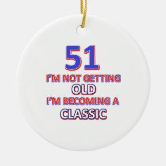 Ornamento De Cerâmica 51 desigs do aniversário