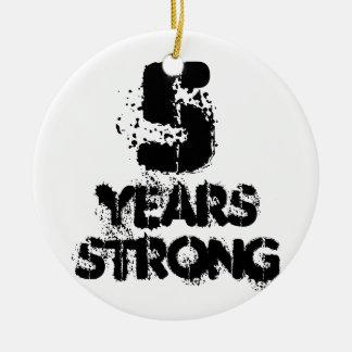 Ornamento De Cerâmica 5 anos de apoio amigável do criminoso da