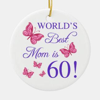Ornamento De Cerâmica 60th Aniversário para a mamã
