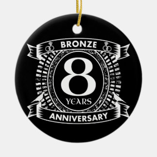 Ornamento De Cerâmica 8o bronze do aniversário de casamento