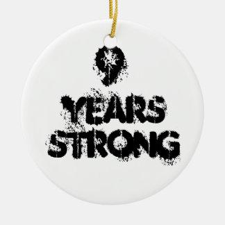 Ornamento De Cerâmica 9 anos de recuperação forte
