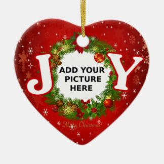 Ornamento De Cerâmica A ALEGRIA feita sob encomenda do Natal da foto