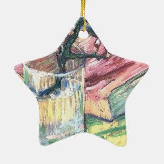 Ornamento De Cerâmica A amêndoa de florescência ramifica em um vidro e