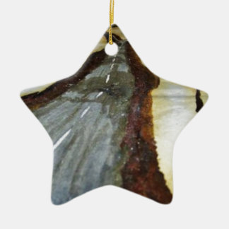 Ornamento De Cerâmica A árvore de vida com a estrada esse th de
