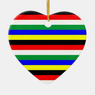 Ornamento De Cerâmica A bandeira de África do Sul listra linhas símbolo