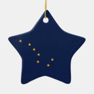 Ornamento De Cerâmica A bandeira de Alaska