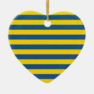 Ornamento De Cerâmica A bandeira de Ucrânia da suecia listra linhas yel