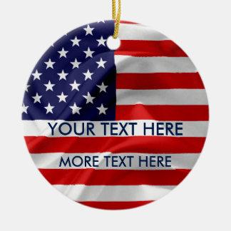 Ornamento De Cerâmica A bandeira dos Estados Unidos da América