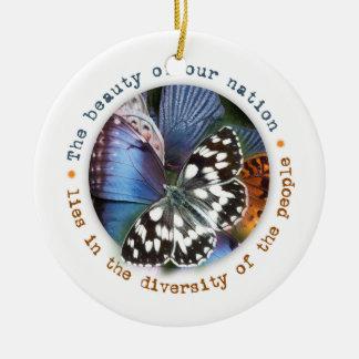 Ornamento De Cerâmica A beleza de nossa nação encontra-se na diversidade