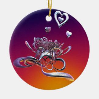 Ornamento De Cerâmica A beleza dos corações