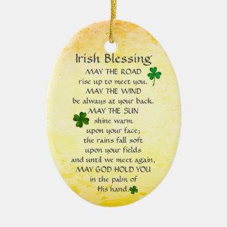 Ornamento De Cerâmica A bênção irlandesa pode a estrada aumentar acima,