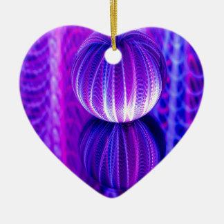 Ornamento De Cerâmica a bola de cristal reflete