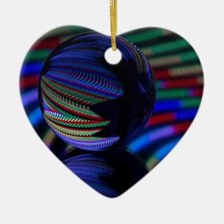 Ornamento De Cerâmica A bola reflete 3