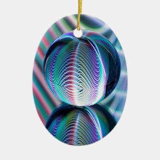 Ornamento De Cerâmica A bola reflete 5