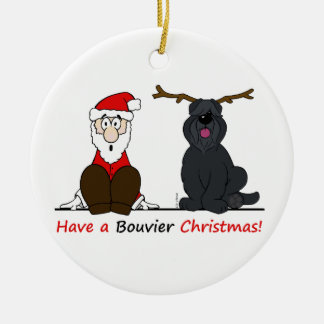 Ornamento De Cerâmica A Bouvier Christmas