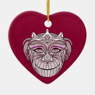 Ornamento De Cerâmica A cabeça 1 de Mokey