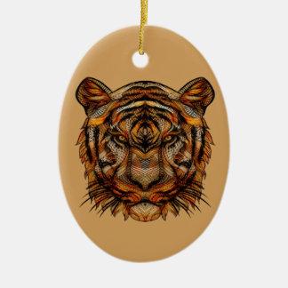 Ornamento De Cerâmica A cabeça 1a do tigre