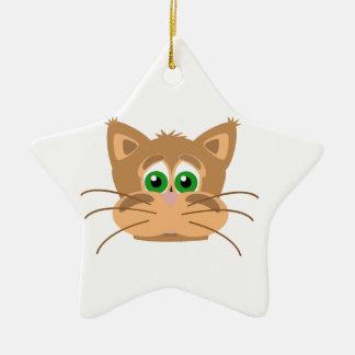 Ornamento De Cerâmica A cabeça do gato