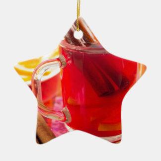 Ornamento De Cerâmica A caneca transparente com citrino mulled o vinho,