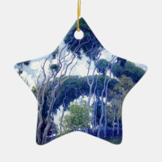 Ornamento De Cerâmica A cara aumentou - eucalipto de Laguna - obra-prima