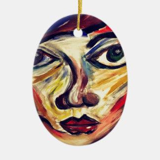 Ornamento De Cerâmica A cara da mulher abstrata