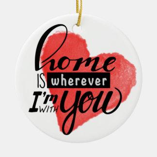 Ornamento De Cerâmica A casa é coração de onde |