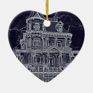 Ornamento De Cerâmica A casa velha