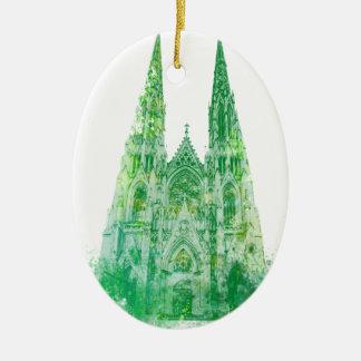 Ornamento De Cerâmica A catedral New York de Patrick de santo